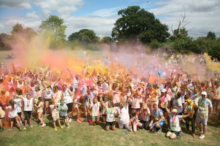 Isobel hospice charity run - colour me happy